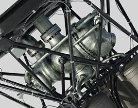 RD-108 Rocket engine 3D