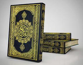 3D model Quran Islamic Bible Book - Cover v2