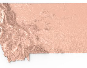 Montana Relief Map 3D print model