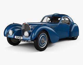 Bugatti Type 57SC Atlantic with HQ interior 1936 3D