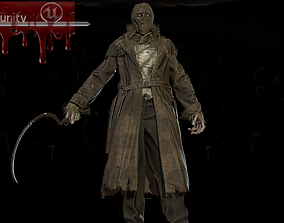 Scary scarecrow 3D asset