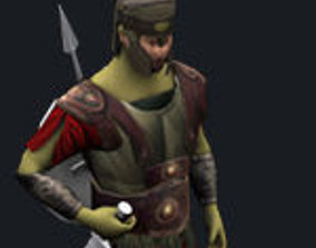 3D model Achilles Spartan Greek Warrior