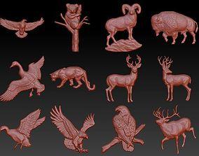 3D print model animals barelief pack