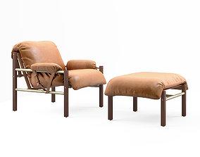 3D Bassam Fellows Sling Club chair and Ottoman