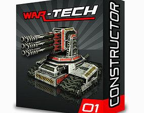 3D asset Modular Multilevel Turrets Mechs Robots