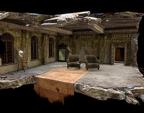 Abandoned interior 3D asset