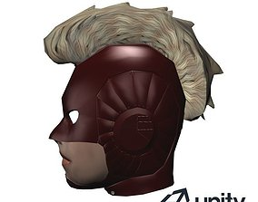 3D asset Captain Marvel Head