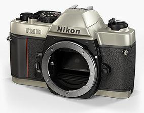 Nikon FM10 35mm film SLR camera 3D model