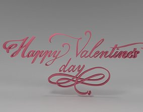 3D model realtime Happy Valentines Day