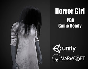 3D asset realtime Horror Girl