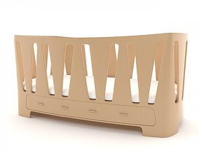 3D model Crib baby