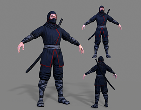 Ninja 3D model VR / AR ready