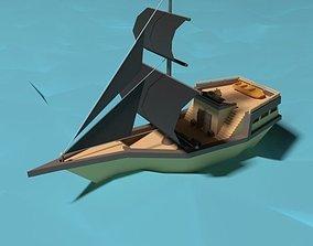 vehicle 3D Pirate Ship