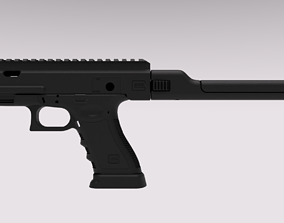 Pdw Kit for Cyma and Tokyo Marui AEP G18c 3D print model