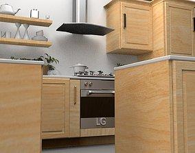 3D asset realtime kitchen room