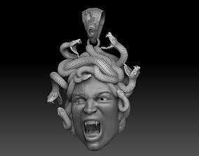 3D print model medusa pendant
