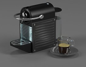 3D kitchenware Coffee maker Nespresso Pixie Electric Titan