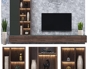 3D model tv wall 07 sculpture