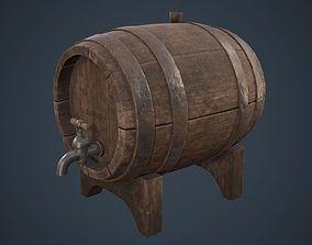 Wine Barrel PBR 3D model