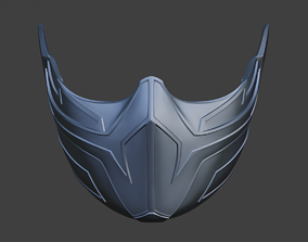 Frost cyberpunk mask for face from Mortal 3D print model 4