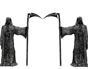 Grim Reaper 3D model low-poly