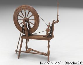 SpinningWheel 3D asset