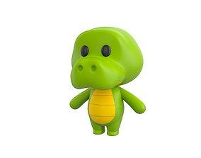 Character013 Crocodile 3D