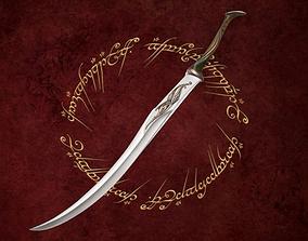 Elf Sentry Sword low-poly 3D model