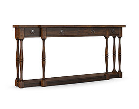 Hooker Furniture - Sanctuary Four-drawer Thin 3D model 2