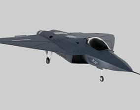 USAF Lockheed Martin - X-44 MANTA - No Tail 3D asset 1