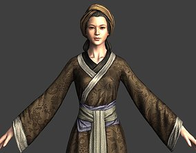 Women in Ancient China Chinese ancient costumes 3D model