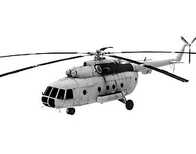 Lowpoly Mil Mi-8 Aircraft Model low-poly