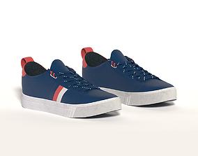 City sneakers blue 3D model lifestyle