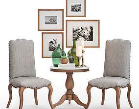 3D Calais Side Chair with Alexandra Side Table