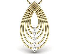 3D printable model Diamond Pendant For Ladies pendant
