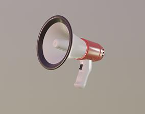 Megaphone 3D asset VR / AR ready