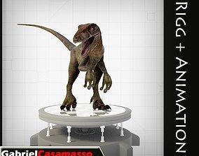 Velociraptor 3D asset animated