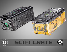 low-poly Sci Fi Crate AAA PBR Game Ready Asset