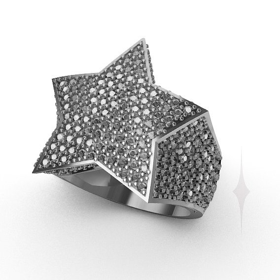 Ring star diamond ice