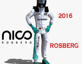 3D model Nico Rosberg 2016
