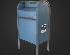 3D model game-ready PBR US Mailbox