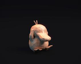 3D print model Psyduck - Stylized Pokemon LowPoly Art