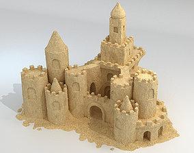 3D model game-ready Sand Castle