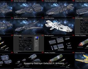 Spaceship Destroyer Collection II 3D model PBR