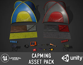 Camping Assets pack 3D model game-ready