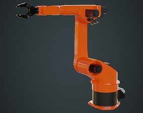 3D model Industrial Robot 3 Untextured