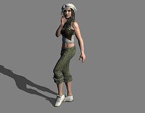 sexy girl rigged 3D asset