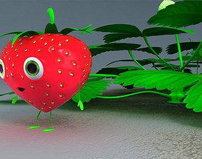Strawberry Man - Rigged 3D asset
