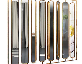shelf 3D Decorative partition set 14