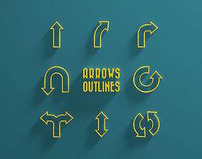 3D model Arrows Outlines